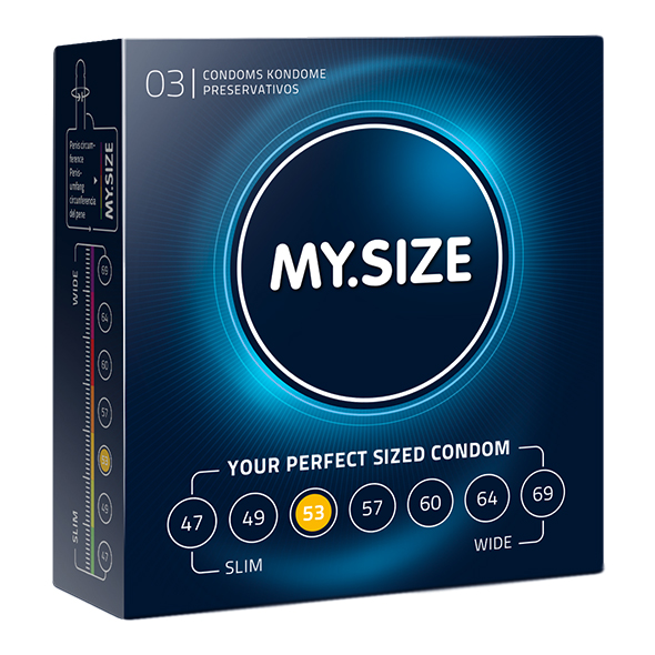 My Size Natural Latex Condom 53 Width 3 pcs