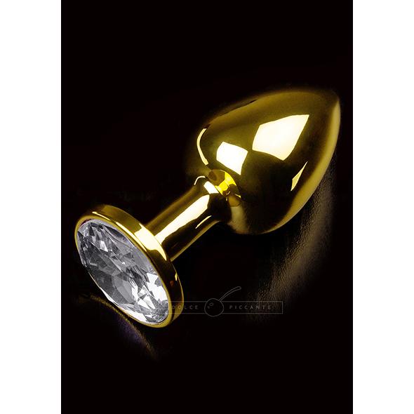 Buttplug Small Gold Clear - Desireshop.nl - Alkmaar