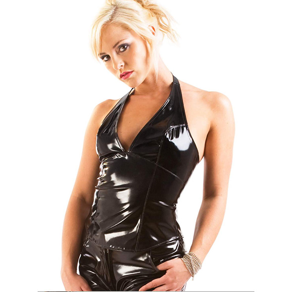 PVC Harlot Halter Top - Honour - Desireshop.nl - Alkmaar