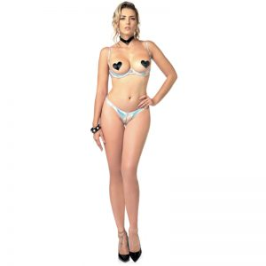 Annabelle open string Hologram | Party kleding kopen | Desireshop.nl